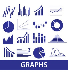 graphs icons eps10 vector image