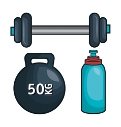 Gym traininig hard isolated icons vector