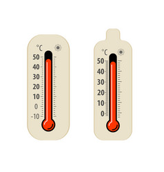 heat thermometer isolated on white hot weather vector image