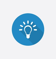 Idea Flat Blue Simple Icon with long shadow vector
