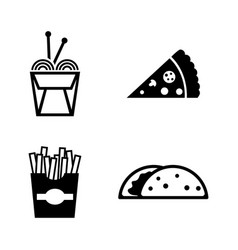 junk food simple related icons vector image