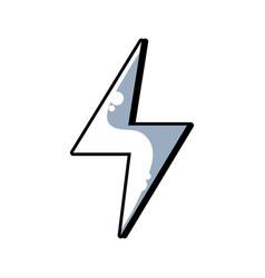 Line energy hazard symbol design image vector