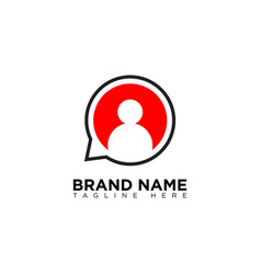 Live chat logo design template vector
