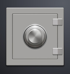 metal safe on a gray background vector image