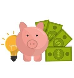 Money savings graphic vector