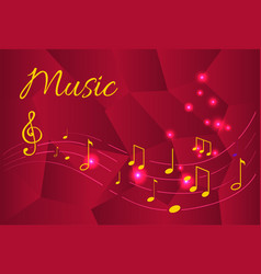Music notes organized tablature tunes sounds vector