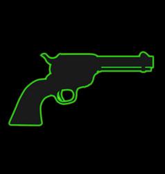 Neon six gun vector