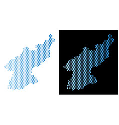 North korea map hex tile mosaic vector