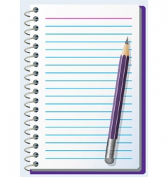 Note pad with pencil vector