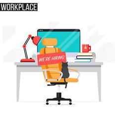 open vacancy jobs employment concept vector image