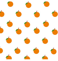 Orange fruits citrus seamless pattern decoration vector