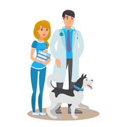 pet care service flat color vector image