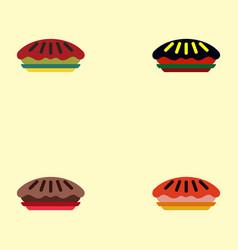 Pie set vector