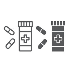 pills line and glyph icon pharmacy vector image