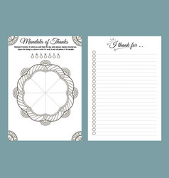 Planner notebook thank this day vector