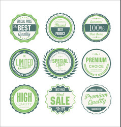 quality badges collection vector image