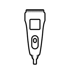 Razor icon Hair salon and barber shop design vector