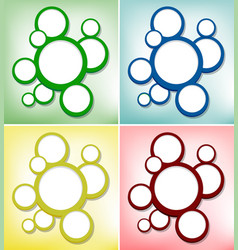 round bubbles on four different color backgrounds vector image