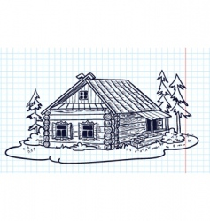 Russian hut vector