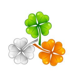 Saint patricks day irish flag clover vector