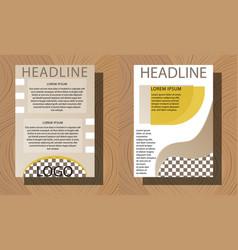 Set of brochure flyer design layout template size vector
