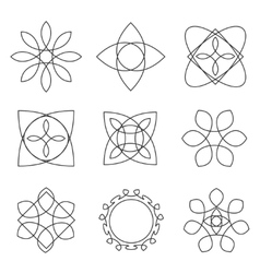 Set of trendy geometric shapes hipster frames vector