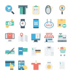 Shopping and E Commerce Colored Icons 4 vector image