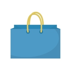 Shopping bag icon flat style Paper bags isolated vector