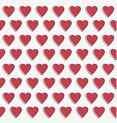 simple hearts seamless pattern valentines vector image
