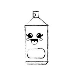 Spray can cartoon smiley vector