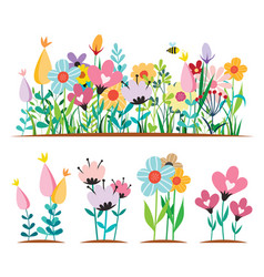spring flowers design concepts vector image