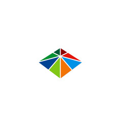 square triangle colorful construction logo vector image