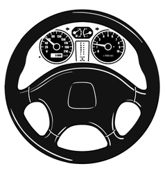 Steering wheel vector image