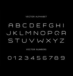stylish font with letters and numbers set vector image