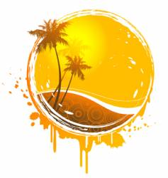 Sun splash vector