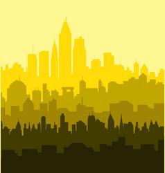 Sunny City Skyline vector