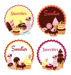Sweet badges vector image