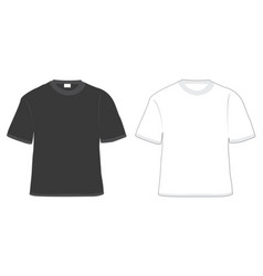 t-shirt black and white vector image