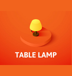 table lamp isometric icon isolated on color vector image