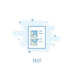 test line concept simple line icon colored vector image