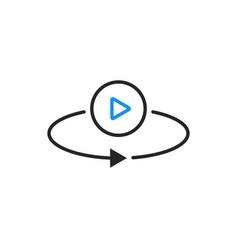 Thin line minimal vr video icon vector
