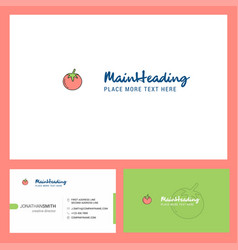 tomato logo design with tagline front and back vector image