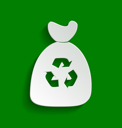 trash bag icon paper whitish icon with vector image
