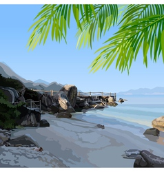 Tropical the seashore vector