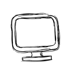 tv doodle draw vector image