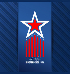 us independence day background vector image