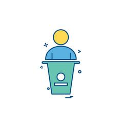 user law person case icon design vector image