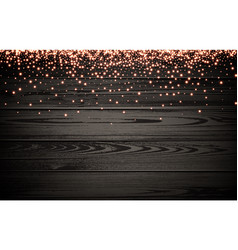 Wooden christmas luminous background vector
