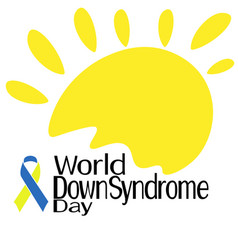 world down syndrome day symbolic sun two-color vector image