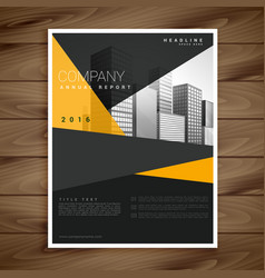 Yellow and black modern brochure flyer design vector